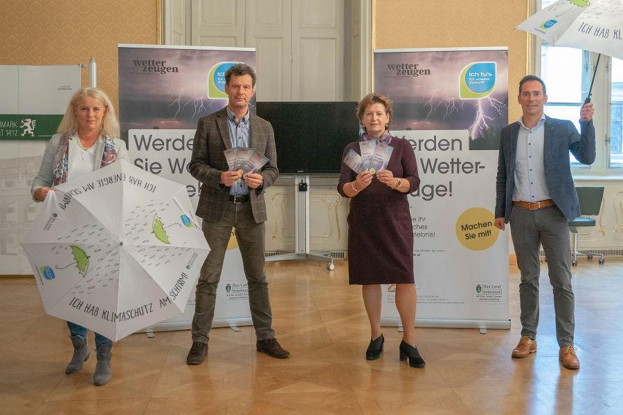 Andrea Gössinger-Wieser, Alexander Podesser, LRin Ursula Lackner und Friedrich Hofer (v.l.)