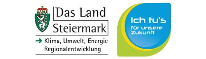 Logo des Land Steiermark und Ich tu's Aktion